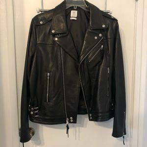 JOHN ELLIOTT x GAP x GQ Leather Moto Jacket